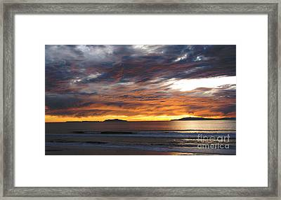 Framed Print featuring the photograph Sunset At The Shores by Janice Westerberg