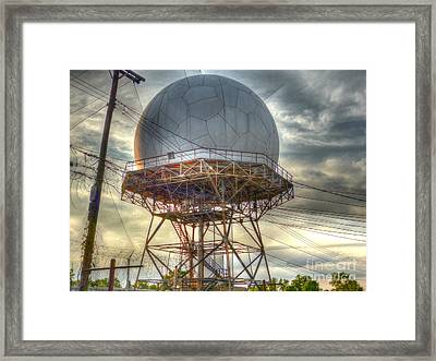 Sunset At The Stormcatcher Framed Print