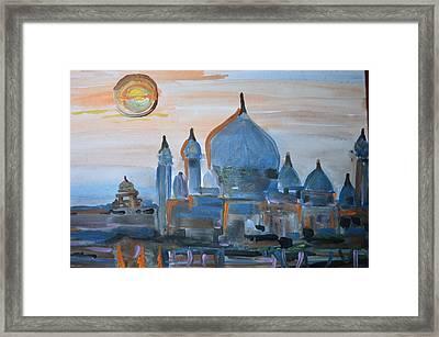 Sunset At The Taj Framed Print