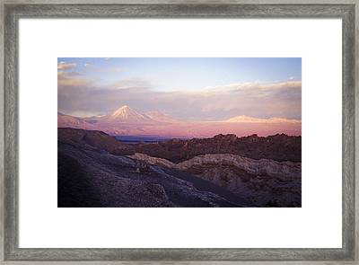 Framed Print featuring the photograph Sunset At The Valley Of The Moon by Lana Enderle