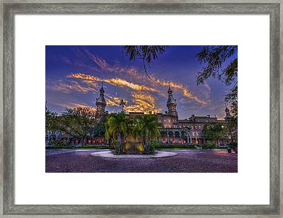 Sunset At U.t. Framed Print
