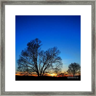 Sunset At Valley Forge Framed Print by Olivier Le Queinec