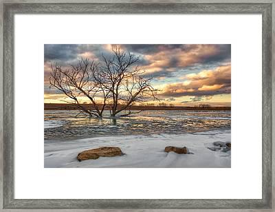 Sunset At Walnut Lake Framed Print