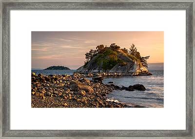 Sunset At Whyte Islet Framed Print