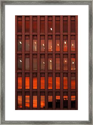 Sunset At Work Framed Print
