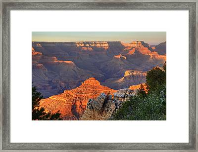 Framed Print featuring the photograph Sunset At Yaki Point by Alan Vance Ley