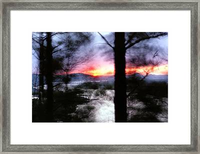 Framed Print featuring the photograph Sunset Atop Windy Emerald Park by Jason Politte