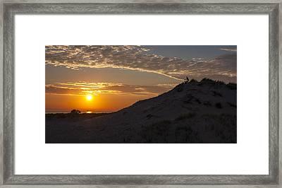 Sunset Audience Framed Print