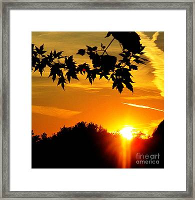 sunset AUSTIN Framed Print by Tina M Wenger