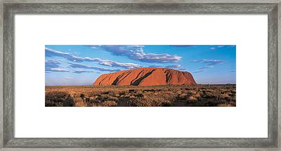 Sunset Ayers Rock Uluru-kata Tjuta Framed Print
