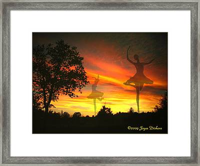 Sunset Ballerina Framed Print by Joyce Dickens