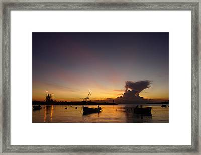 Sunset Barbados #11 Framed Print by Murray Symphorien