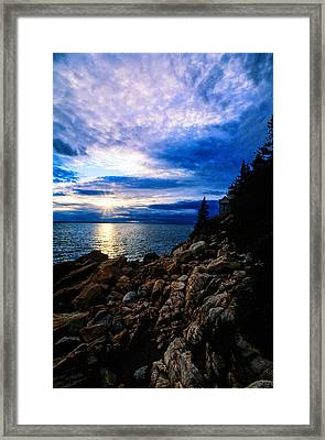 Sunset Bass Harbor Framed Print