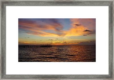 Sunset Bay St. George Island Framed Print