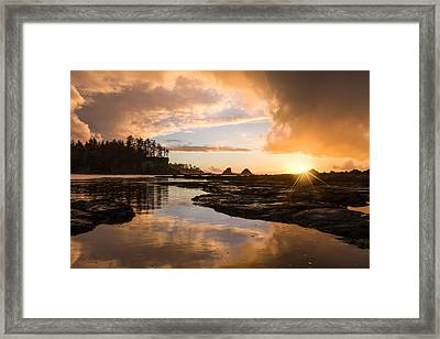 Sunset Bay Reflections Framed Print