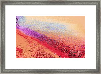 Sunset Beach Framed Print by Ann Johndro-Collins