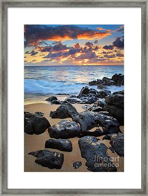 Sunset Beach Framed Print by Inge Johnsson