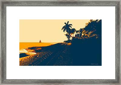 Sunset Beach Framed Print by Marina Likholat