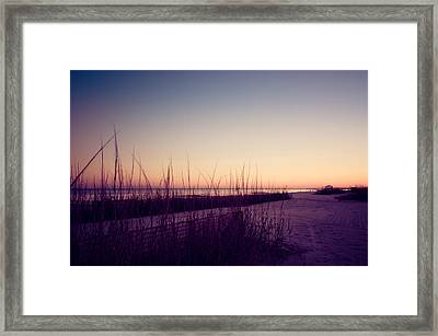 Sunset Beach Framed Print by Mark Hazelton