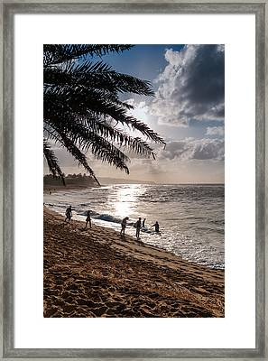 Sunset Beach Park Framed Print