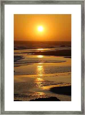 Sunset Beach Framed Print by Richard Hinger
