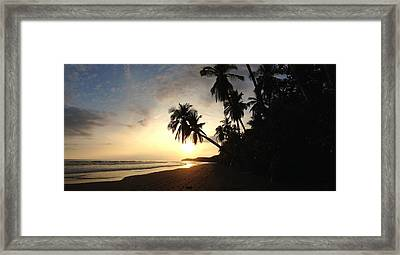 Sunset Beach Framed Print by Tropigallery -