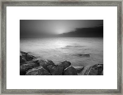 Sunset Before The Storm Framed Print by Guido Montanes Castillo