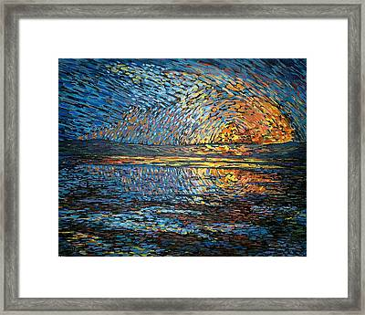 Sunset Before The Storm Framed Print