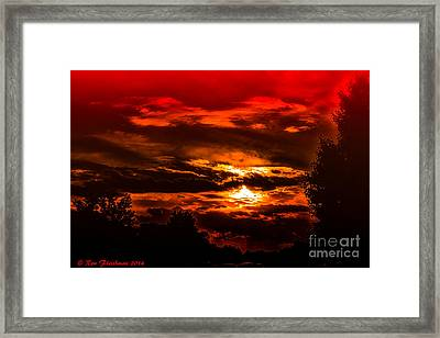 Sunset Before The Storm Framed Print by Ron Fleishman