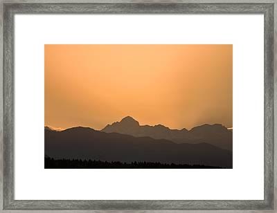 Sunset Behind The Julian Alps Framed Print