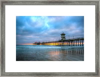 Sunset Beneath The Pier Framed Print