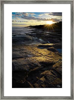 Sunset Beyond Framed Print by Lourry Legarde