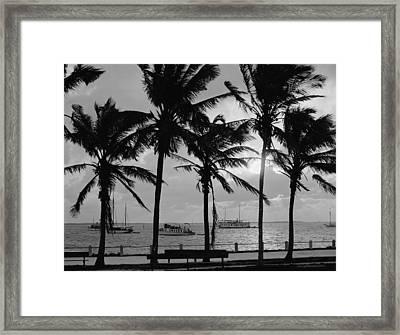 Sunset, Biscayne Bay, Miami, Florida Framed Print