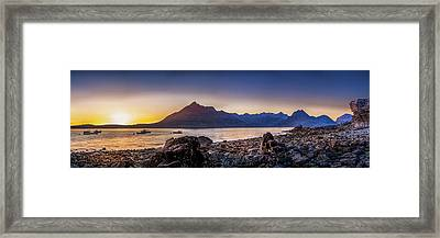 Sunset Black Cuillin Isle Of Skye Scotland Framed Print