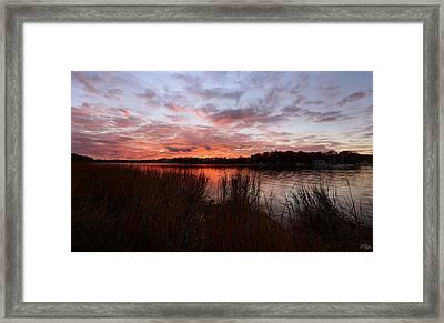 Sunset Bliss Framed Print by Lourry Legarde