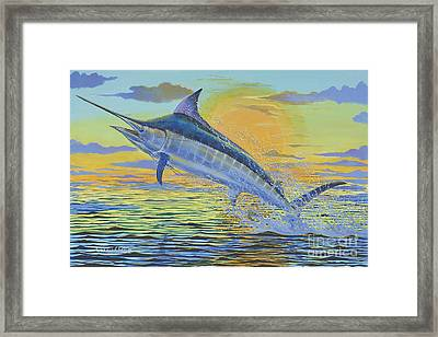 Sunset Blue Off0085 Framed Print by Carey Chen