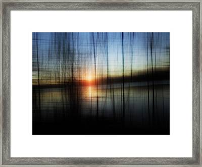 Sunset Blur Framed Print by Florin Birjoveanu