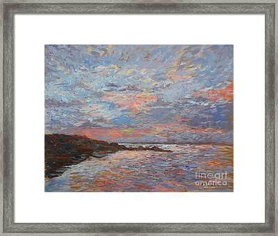 Sunset Bodega Bay Framed Print by Monica Caballero