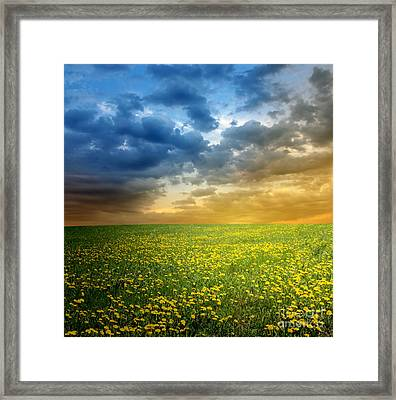 Framed Print featuring the photograph Sunset by Boon Mee