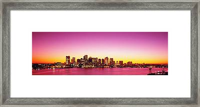 Sunset, Boston, Massachusetts, Usa Framed Print by Panoramic Images