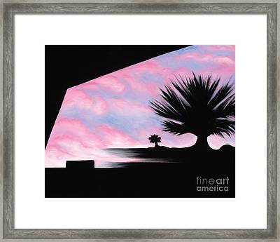 Sunset Boulevard Dreams Framed Print by Tiffany Davis-Rustam