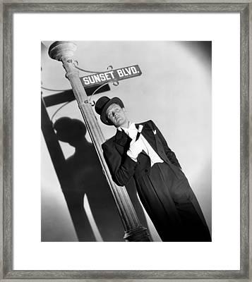 Sunset Boulevard, William Holden 1950 Framed Print by Everett