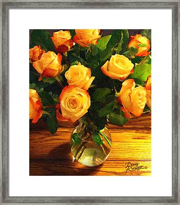 Sunset Bouquet Framed Print