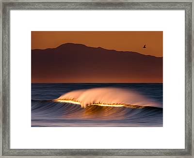 Framed Print featuring the photograph Sunset Breaking73a0456 by David Orias