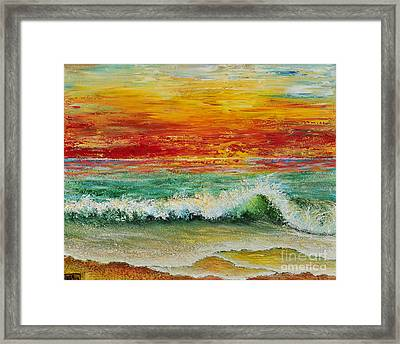 Sunset Breeze Framed Print by Teresa Wegrzyn