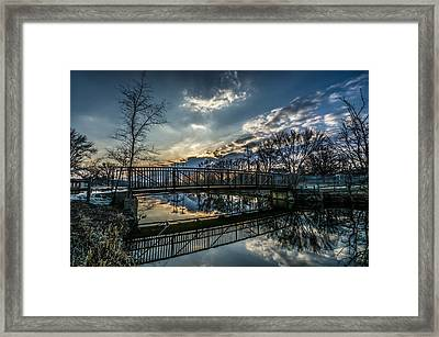 Sunset Bridge 2 Framed Print by Randy Scherkenbach