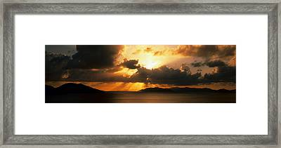 Sunset British Virgin Islands Framed Print by Panoramic Images