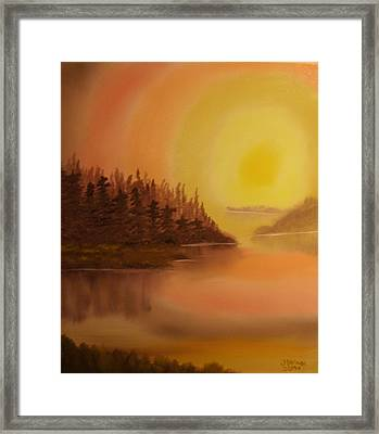Sunset Brown Island  Framed Print by James Waligora