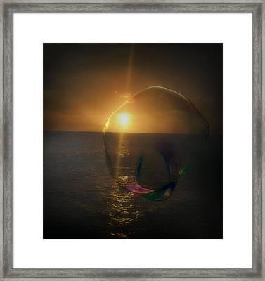 Sunset Bubble Framed Print