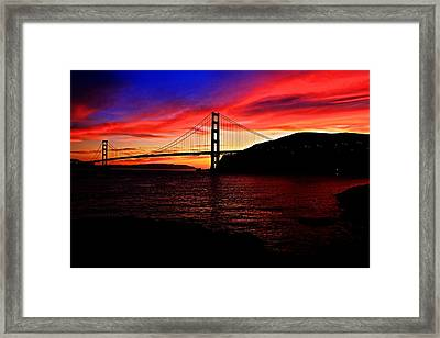 Framed Print featuring the photograph Sunset By The Bay by Dave Files